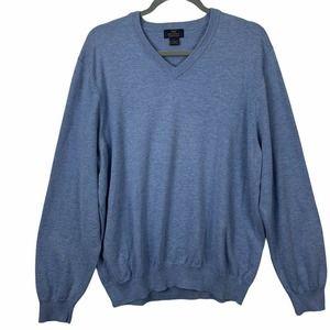 Brooks Brothers 346 V Neck Sweater L Pima Cotton